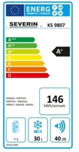 Energy label fridge_freezer template A+