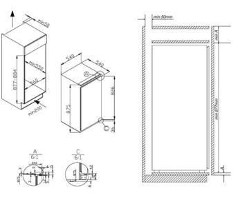 amica egs 16173 einbau gefrierschrank test und. Black Bedroom Furniture Sets. Home Design Ideas